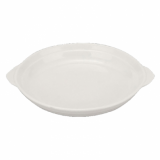 Orion Round Eared Dish (20cm) - White Porcelain
