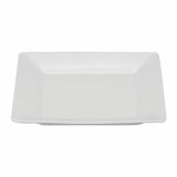 Orion Square Plate (20cm) - White Porcelain