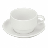 Orion Stacking Saucer (14.5cm) - White Porcelain