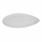 Orion Triangular Snack Plate - White Porcelain