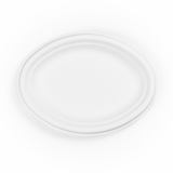 Bio Compostable Bagasse Plates - OVAL - 10 inch (Pack of 50)