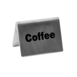 Tent Sign - Stainless Steel (Coffee)