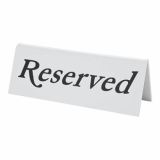 Reserved Sign (Plastic)
