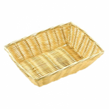 Basket - Rectangle Poly Wicker Rattan (23cm x 16.5cm)