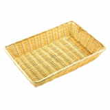 Basket - Rectangle Poly Wicker Rattan (40.5cm x 28.5cm)