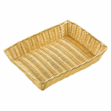 Basket - Rectangle Poly Wicker Rattan (30cm x 22cm)