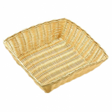 Basket - Square Poly Wicker Rattan (25cm x 25cm)