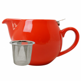 Teapot with Stainless Steel Lid - Red (500ml)