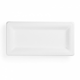 Bio Compostable Rectangle Plates - 10 x 5 inch (Pack of 50)