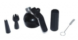 Best Whip/Mosa - Whipper Head Set (Inc holder & decorators) - Black
