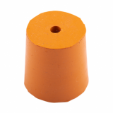 Rubber Bung (Base Dia 27mm) WITH HOLE