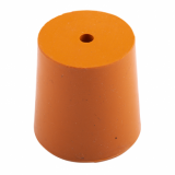 Rubber Bung (Base Dia 33mm) WITH HOLE