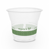 Bio Compostable SLIM Clear Cups - 5oz (76mm Rim) - Pack of 50