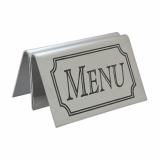 Stainless Steel Tent Style Menu Holder