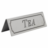 Stainless Steel Tent Style Sign - TEA