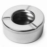 Windproof Ashtray Stainless Steel - Small (92mm Diameter)