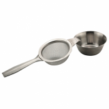 Tea Strainer With Drip Bowl (Stainless Steel)
