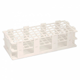 Test Tube Rack (White Plastic) - 60 x 16mm Holes
