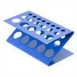 Test Tube Rack - Z-Shaped (Blue Anodised)