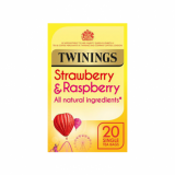 Twinings - Strawberry & Raspberry Tea Bags (40g) - Pk of 20