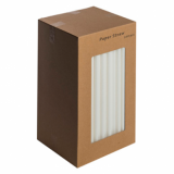 Paper Straws - White 8-Inch (6mm x 200mm) 250 Pack