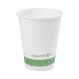 Bio Compostable White Single Wall 12oz CUPS - 89mm Rim (Pack of 50)