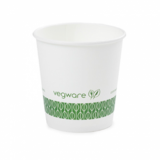 Bio Compostable White Espresso 4oz CUPS - 62mm Rim (Pack of 50)