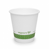 Bio Compostable White Single Wall 6oz CUPS - 72mm Rim (Pack of 50)