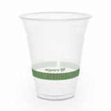 Bio Compostable WIDE Clear Cups - 12oz (96mm Rim) - Pack of 50