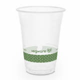 Bio Compostable WIDE Clear Cups - 16oz (96mm Rim) - Pack of 50