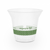Bio Compostable WIDE Clear Cups - 9oz (96mm Rim) - Pack of 50