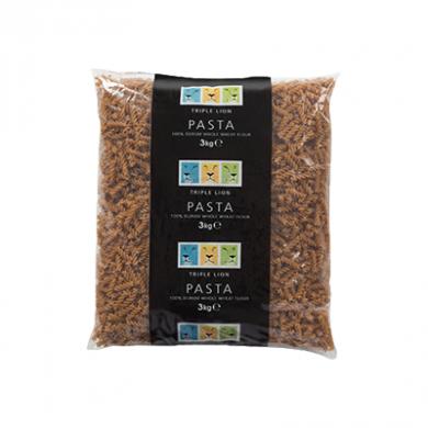 Triple Lion - Wholewheat Fusilli Pasta (3kg)