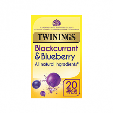 Twinings - Blackcurrant & Blueberry Tea Bags (40g) - Pk of 2
