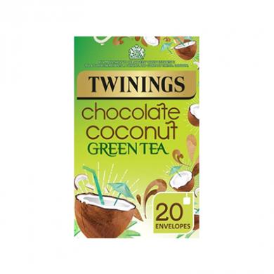 Twinings - Chocolate Coconut Green Tea Bags (40g) - Pk of 20