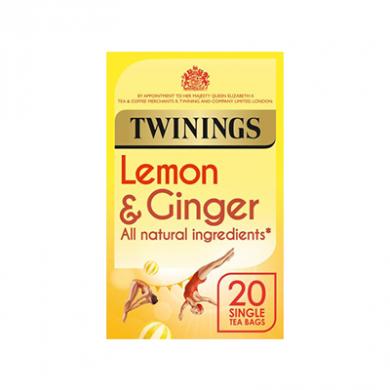 Twinings - Lemon & Ginger Tea Bags (30g) - Pk of 20