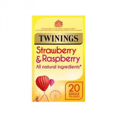 Twinings - Strawberry & Raspberry Tea Bags (40g) - Pk of 20