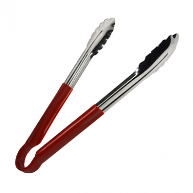 Kitchen Tongs - Red Handle (23cm/9 inches) - Heavy Duty