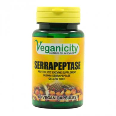 Veganicity - Serrapeptase 80,000iu (60 Tablets) - OFFER BBD