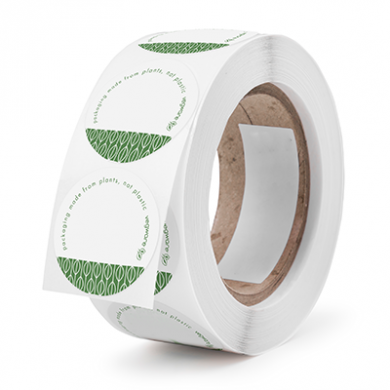 Bio Compostable Labels / Stickers (Roll of 1000)