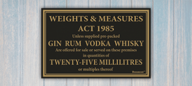 Weight and Measures Act Signage