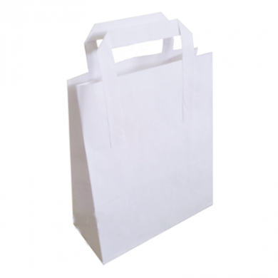 White Paper Carrier Bags - X Large (30 x 40 x 16cm) - Pack o