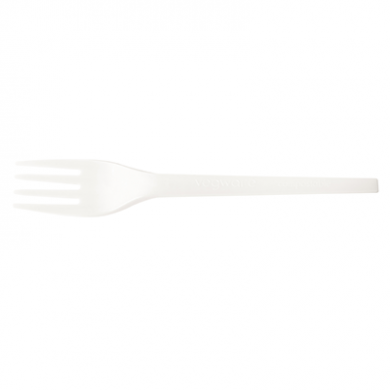 Bio Compostable Cutlery - Fork 6.5 Inch (Pack of 50) - WHITE