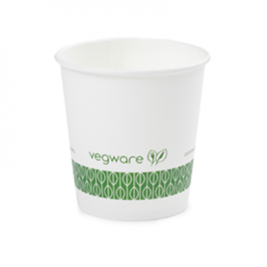 Bio Compostable White Espresso 4oz CUPS - 62mm Rim (Pack of