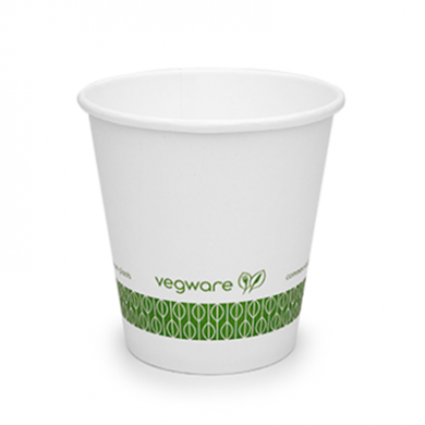 Bio Compostable White Single Wall 6oz CUPS - 72mm Rim (Pack