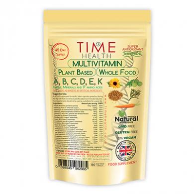 Whole Food Plant Based Multi-Vitamin 100%+ NRV (180 Capsules