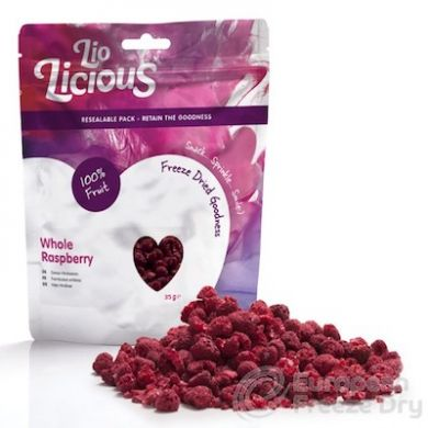 Freeze Dried Whole Raspberries (35g)