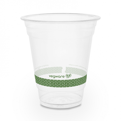 Bio Compostable WIDE Clear Cups - 12oz (96mm Rim) - Pack of