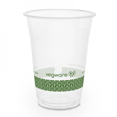 Bio Compostable WIDE Clear Cups - 16oz (96mm Rim) - Pack of