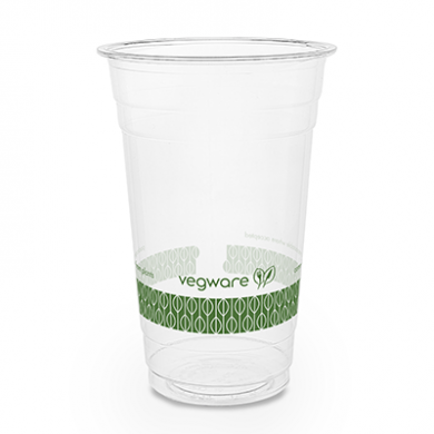 Bio Compostable WIDE Clear Cups - 20oz (96mm Rim) - Pack of