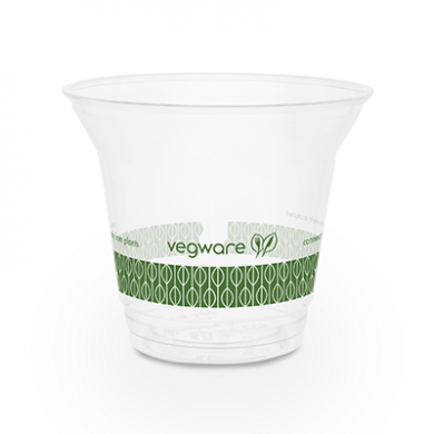 Bio Compostable WIDE Clear Cups - 9oz (96mm Rim) - Pack of 5